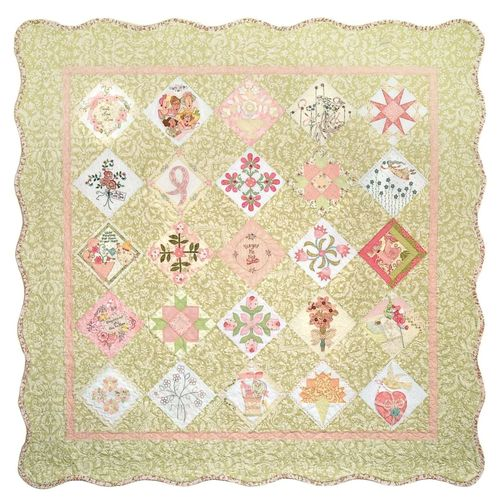 Front of Susan J Komen Forget me not Quilt USA