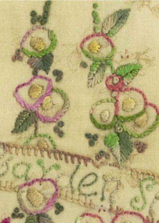 Hollyhocks on Thread holder