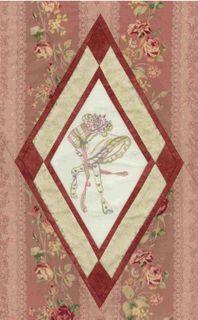 J A Block Lecien fabric Floral collection Antique Rose