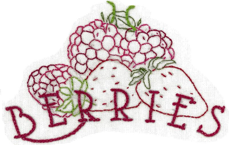 Berries stitched