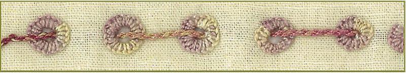 Eyelet holes ...blanket stitch brenda stitchery